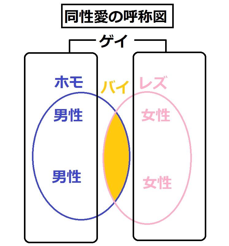 同性愛の呼称図式